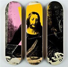"ANDY WARHOL ""JESUS, THE LAST SUPPER"" TRIPTYCH SKATE DECKS"