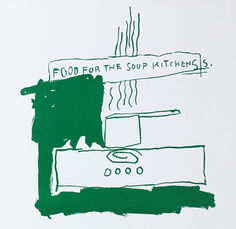 Basquiat Food for the Soup Kitchens (poster)