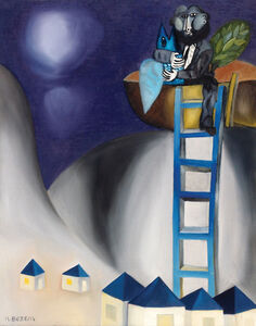 Naftali Bezem, 'Figure with a Fish on a Ladder', 1998