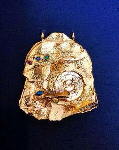 Igael Tumarkin, 'Gilt Bronze Sculpture Brooch Wearable Art Israeli Tumarkin Abstract Surrealist ', 1960-1969