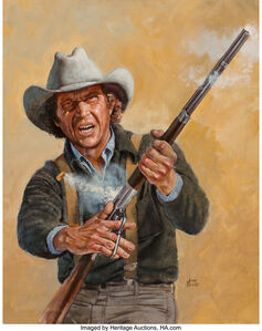 John Solie, 'Rifleman with Steve McQueen, possible movie poster'