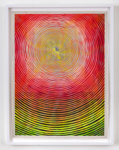 Andrew Schoultz, 'Shining Eye  (red, green and gold)', 2018