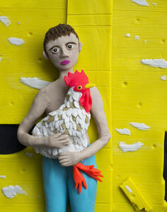 Eleanor Macnair, 'Original photograph: Eric with Rooster, 2001 by Shelby Lee Adams rendered in Play-Doh', 2019