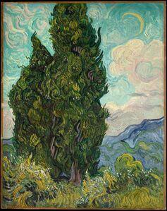 Vincent van Gogh, 'Cypresses', 1889