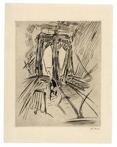 John Marin (1870-1953), 'Brooklyn Bridge No. 6 (Swaying)', 1913