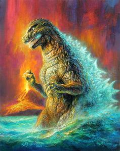 Bob Eggleton, 'Godzilla 1985', 2018
