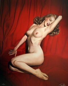 Tom Kelley, 'Marylin Monroe, Pose #6, 'Red Velvet' serie', 1949