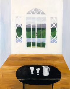 Polly Shindler, 'Drop Leaf Table with Pitcher and Sundae Glasses', 2018