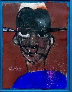 Richard Merkin, 'New Yorker Illustration Graffiti Artist Jean Michel Basquiat Portrait Pop Art', Late 20th Century