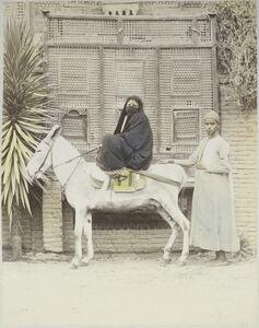 Félix Bonfils, '[Arab woman riding a donkey]', 1880