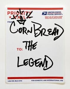 Cornbread, 'Postal Label Series: The Legend I', 2020