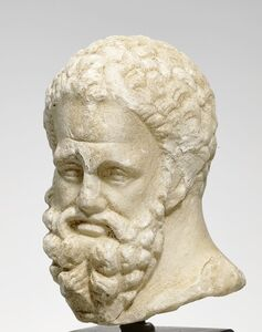 Ancient Greek sculptor, 'Head of Herakles, Farnese type.H', Hellenistic-late 1st/early 2nd century BCE