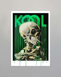 Zevs, 'Kool Skull of a Skeleton (Black)', 2019