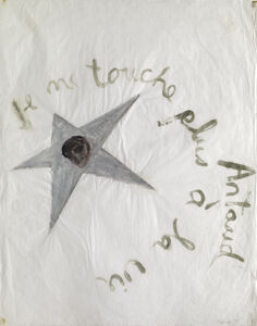 "Nancy Spero, 'Artaud Painting - ""Je ne touche plus...""', 1970"