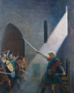 Newell Convers Wyeth, 'Wallace Draws the King's Sword'