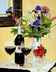 Ingeborg Haeberle, 'winery yard', 2015