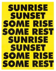Sterling Ruby, 'SUNRISE SUNSET SOME RISE SOME REST', 2015