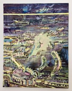 Adam Adach, 'Moby Dick Yellow Line', 2019