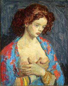 Moses Soyer, 'Woman in Blue Robe', 1899-1974