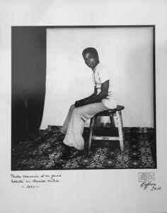 Ambroise Ngaimoko, 'Photo souvenir d'un jeune habillé en chemise cintrée.', 1973