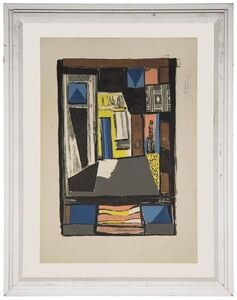 Albert Urban, 'Untitled Bold Geometric Abstract with Shapes and Figures', Mid-20th Century