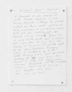 Karen Finley, 'Feel the Bernie,  Ivanka Dream Journal', 2020