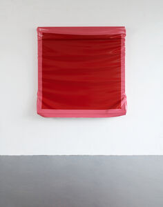 Angela de la Cruz, 'Layers - Large (Red/Brilliant Pink)', 2019