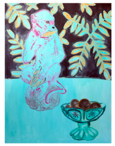 Anne-Louise Ewen, 'Monkey with Bowl of Oranges'