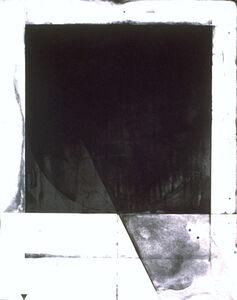 Shoichi Ida, 'Between Vertical and Horizon--Descended Triangle--Square (Black)', 1987