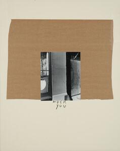 John Gossage, 'Fuck You', 1989