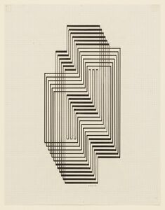 Josef Albers, 'Study for Graphic Tectonic (Ascension)', 1941