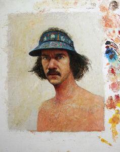 Gregory Gillespie, 'Self-Portrait with Blue Visor', 1979