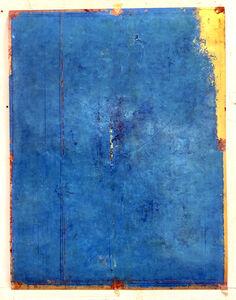 Antonello Viola, 'Paris blu su oro e rosso', 2018