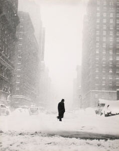 Ted Croner, 'Little Man in Snow', 1947