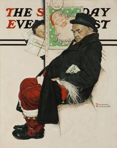Norman Rockwell, 'Santa on Train, Saturday Evening Post Cover', 1940