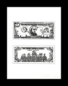 Öyvind Fahlström, 'One Hundred and Eight Inflated Dollars, from the Collection of Ileana Sonnabend and the Estate of Nina Castelli ', 1973
