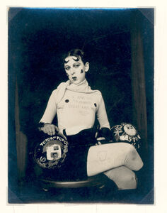 Claude Cahun, 'I am in training, don't kiss me, 1927'