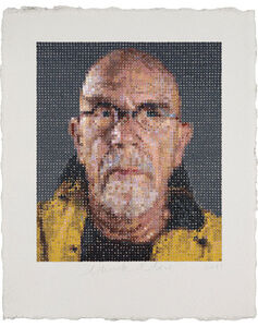 Chuck Close, 'Self Portrait', 2012