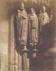 Pierre Emile Joseph Pécarrère, 'Cathédrale de Chartres, Statues du Portail Sud, des Confesseurs', 1851/1851c