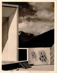 Alfredo Cortina, 'Detalle de la Concha Acústica', 1954