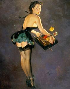 Gil Elvgren, 'Parting Company', 1950