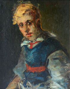 George Benjamin Luks, 'Portrait of a Boy', 1900-1920