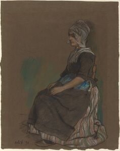 Emil Orlik, 'Volendam Girl in Costume', 1898