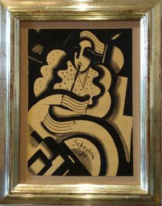"""Hugó Scheiber, '""""Portrait of a Woman""""', 1925"""