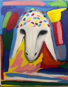 Menashe Kadishman, 'Royal Sheep', ca. 1990