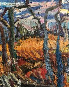 Lynette Lombard, 'Late Winter Green Oaks', 2020