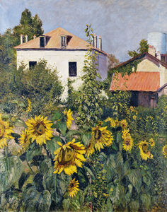 Gustave Caillebotte, 'Sunflowers, Garden at Petit Gennevilliers', ca. 1885