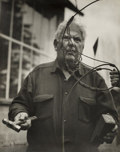Pedro E. Guerrero, 'Alexander Calder in Saché, France', 1965