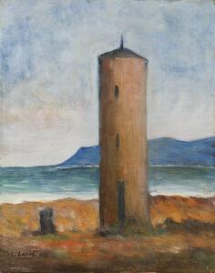 Carlo Carrà, 'La torre sul mare', 1950
