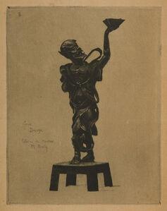Félix Hilaire Buhot, 'Japonisme: Genie bronze', 1875